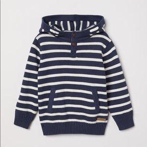 NWT L.O.G.G. Dark Blue Knit Hooded Sweater 4-6Y